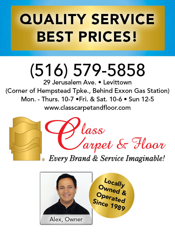 Visit Class Carpet & Floor in Levittown today for huge savings during the New Year New Floor Sale!